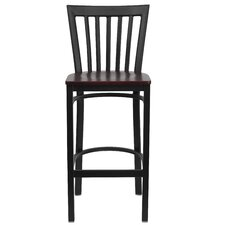 Hercules Series School House Back Metal Restaurant Bar Stool