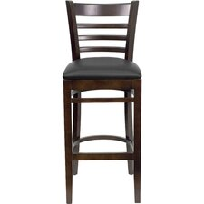 Hercules Series Ladder Back Wooden Restaurant Bar Stool