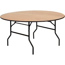 Round Wood Folding Banquet Table