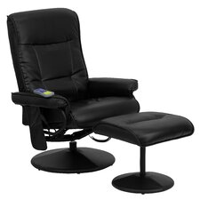 <strong>Flash Furniture</strong> Heated Reclining Massage Chair and Ottoman