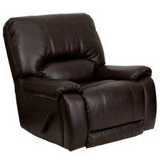 Overstuffed Leather Chaise Recliner