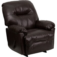 Contemporary Leather Chaise Recliner