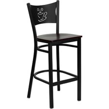Hercules Series Coffee Back Metal Restaurant Bar Stool