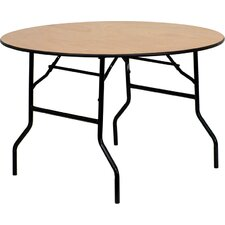 <strong>Flash Furniture</strong> Round Wood Folding Banquet Table with Clear Coated Finished Top