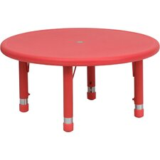 <strong>Flash Furniture</strong> Round Height Adjustable Plastic Activity Table