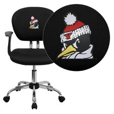 NCAA Mid-Back Task Chair with Arms