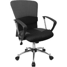 <strong>Flash Furniture</strong> Contemporary Two-Tone Mid-Back Office Chair with Adjustable Lumbar Support