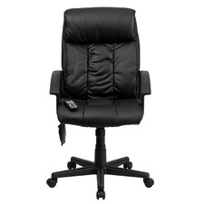 <strong>Flash Furniture</strong> High-Back Leather Massaging Executive Office Chair with Arms