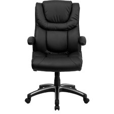 <strong>Flash Furniture</strong> High-Back Leather Executive Office Chair with Arms