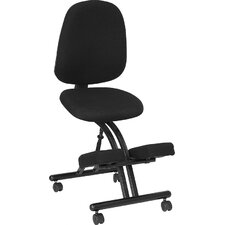 <strong>Flash Furniture</strong> Mobile Ergonomic Kneeling Posture Chair in Black Fabric with Back