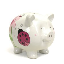 Lady Bug Large Piggy Bank