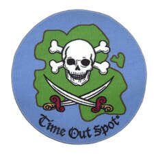 Time Out Spot Pirate Kids Rug