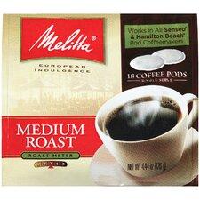 Medium Roast Soft Pod Coffee (Pack of 18)