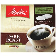 Dark Roast Soft Pod Coffee (Pack of 18)