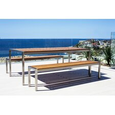 <strong>Harbour Outdoor</strong> Garden Court 3 Piece Dining Set