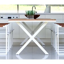 Coast Teak Accent X Frame Dining Table