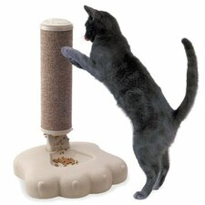 <strong>Good Pet Stuff Co.</strong> Interactive Cat Scratch Post and Food Treat Training Feeder