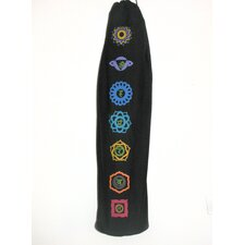 Printed Chakra Yoga Mat Bag in Black