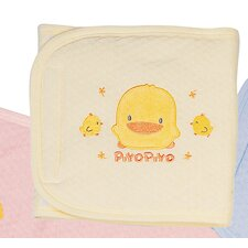 <strong>Piyo Piyo</strong> Embroidered Jacquard Winter Tummy Wrap in Yellow