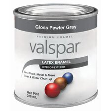 Half Pint Pewter Gray Gloss Latex Enamel 410-65039 HP