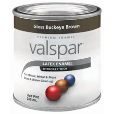 Half Pint Buckeye Brown Gloss Latex Enamel 410-65045 HP
