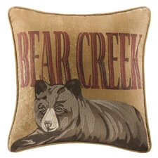 Bear Creek Trees Square Pillow