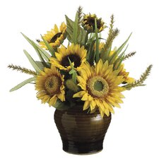 Sunflower / Foxtail (P) Re-Shippable Arrangement