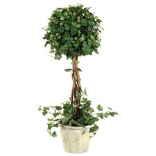 "22"" Curily Topiary Plant Ivy with Pot in Green"