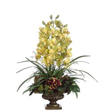 "<strong>Tori Home</strong> 36"" Orchid and Hydrangea Floral Arrangement with Urn"
