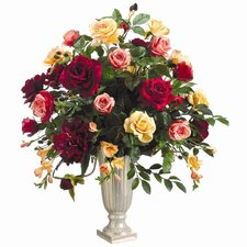 Rose, Peony, Freesia Mixed in Vase