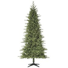 "Russian Slim 7' 6"" Green Artificial Christmas Tree with Stand"