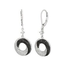 Micro-Set 130 Cubic Zirconium Round Shape Dangle Earring