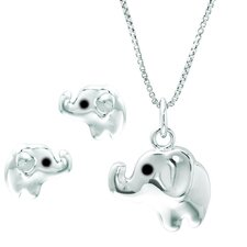 Sterling Silver Elephant Jewelry Set