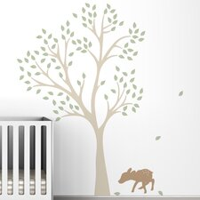<strong>LittleLion Studio</strong> Trees Fawn Wall Decal