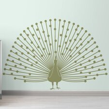 Black Label Peacock Wall Decal