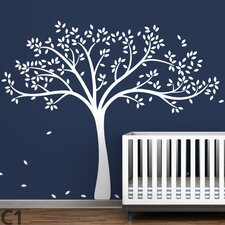 <strong>LittleLion Studio</strong> Trees Monochromatic Fall Wall Decal