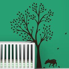 <strong>LittleLion Studio</strong> Trees Monochromatic Fawn Wall Decal