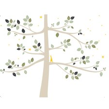 Trees Follow the Little Rabbit Large Wall Decal