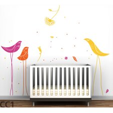 <strong>LittleLion Studio</strong> Color Block Carnival Birds Wall Decal