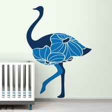 Fauna Floral Ostrich Wall Decal