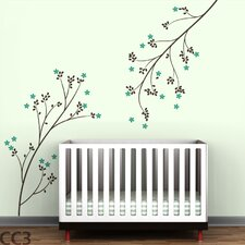 Tree Branches Blossom Wall Decal