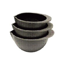 3 Piece Bowl Set in Black Granite