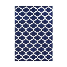 Navy Blue/White Rug