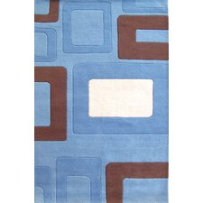 <strong>Alliyah Rugs</strong> New Casanova Geometric Blue Rug