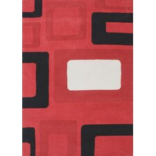 <strong>Alliyah Rugs</strong> New Casanova Geometric Red Rug