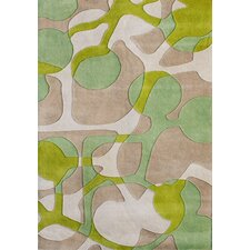 Scandinavia Geometric Lime Green Rug