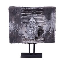 Lava Stone Buddha Head Plaque