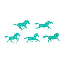 5 Piece Galloping Horses Art Wall Décor Set