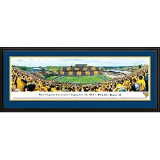 NCAA West Virginia University - Stripe Deluxe Frame Panorama