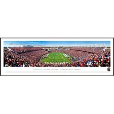 NCAA End Zone Standard Framed Photographic Print